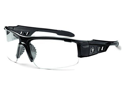 Skullerz Dagr Safety Glasses - Black Frame, Clear - Safety Military Glasses