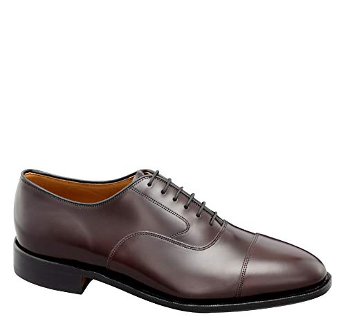 - Johnston & Murphy Men's Melton Cap Toe Shoe Burgundy Calfskin 9.5 E US