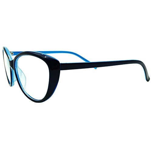 Southern Seas Nearsighted Cat Eye Myopia Glasses Womens Blue Frame Cateye Style Distance - Spectacle Styles