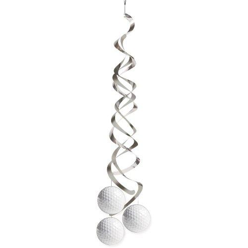 Creative Converting 37965 Sports Fanatic Golf Deluxe Danglers White