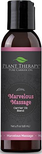 Plant Therapy Marvelous Massage Carrier Oil Blend 4 fl. oz. Base for Essential Oils or Massage
