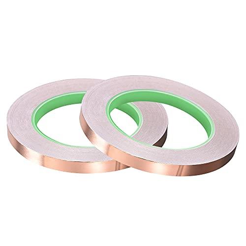 Cinta conductora de cobre de doble cara 10 mm x 30m pack 2