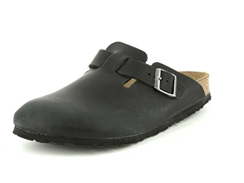 Birkenstock Clogs ''Boston'' from Leather in Black 39.0...