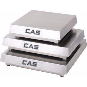 (CAS HCMS-L1000 Mild Steel Enduro HC Series Scale Platforms, 1000lb Capacity, 24