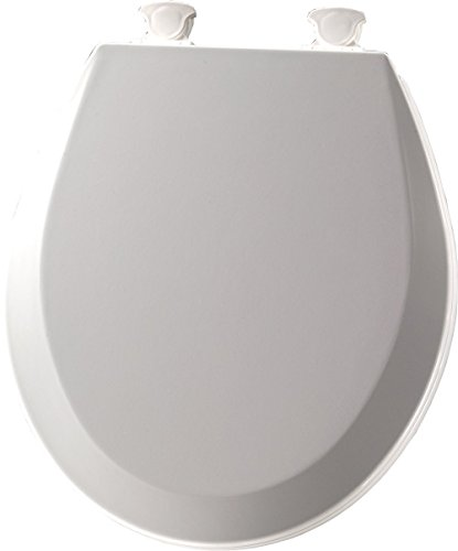 Bemis 500EC062 Molded Wood Round Toilet Seat With Easy Clean and Change Hinge, Ice (Home Depot Toilet Seat)