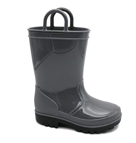 (SkaDoo Dark Gray Kids Rain Boots 10 M US Toddler)