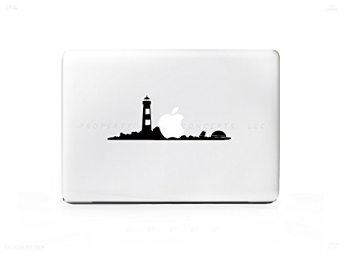 Lighthouse Sunset Beach Ocean Sticker Decal For MacBook Pro 13