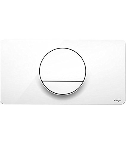 Viega 83331 Flush Plate,Visign for Style actuating Panel 13 Alpine White