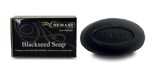 Hemani Halal Blackseed Soap for All Skin Types 6 Soap Package by Hemani by Hemani