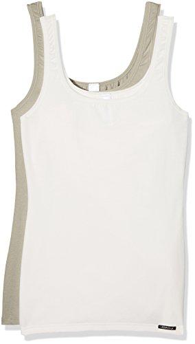 Skiny Advantage Cotton Tank Top Dp, Camiseta sin Mangas para Mujer (lot de 2) Mehrfarbig (safari selection 8405)