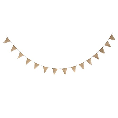DIY Burlap Banner Kit Wedding Bunting Design Your Own Pre Strung 15 Flags With Jute Cording 10 Foot Length
