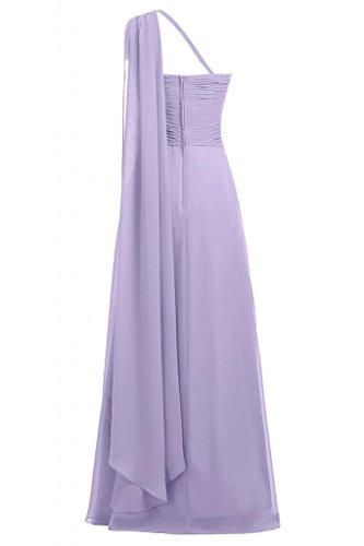 da lungo Sunvary tracolla sera One Lilac Chiffon Donna Vestito in wxqqXZApY