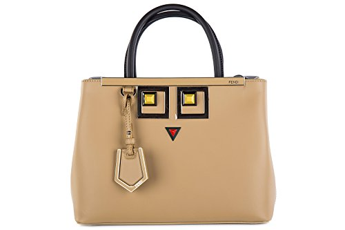 Fendi-womens-leather-handbag-shopping-bag-purse-petite-2jours-occhi-brown