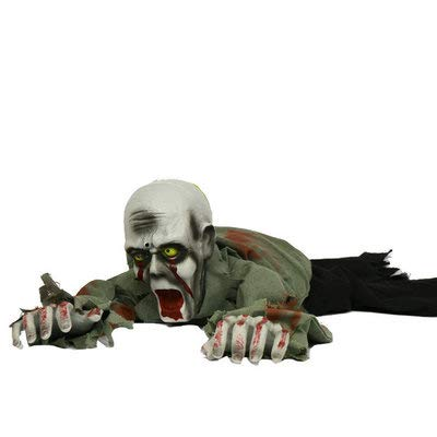 Halloween Scary Large Crawling Zombie Ghosts Dolls Electric Voice Trick or Treat Toys Haunted House Escape Horror Props Halloween -