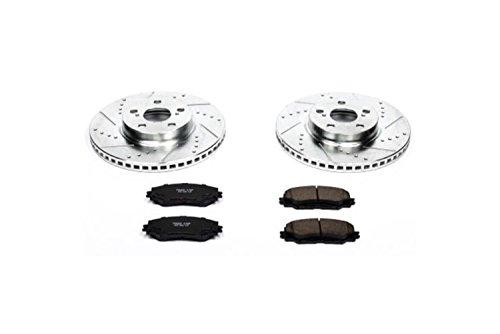 Power Stop K4669 Front Brake Kit with Drilled/Slotted Brake Rotors and Z23 Evolution Ceramic Brake Pads