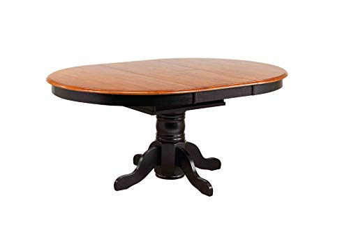 - Sunset Trading DLU-TBX4266-BCH Black Cherry Selections Dining Table, Distressed Antique rub