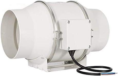 Hon&Guan Ventilador Extractor de Aire en Línea con con Temporizador/Motor de Dos-velocidades para Oficina, Hotel, Baño (ø150mm): Amazon.es: Hogar