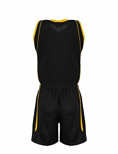 Und Team Uniform Amarillo Prenda Negro Basketball Peak Europe Trikot Sport Shorts Set IqxtA0w
