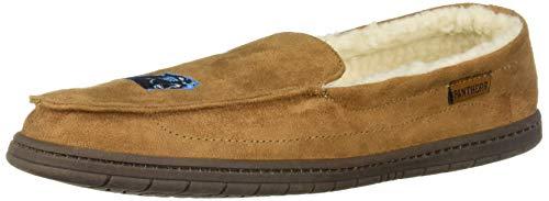 FOCO NFL Carolina Panthers Beige Team Logo Moccasin Slippers Shoe, Beige, Large (11-12)