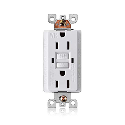Aweking UL Listed GFCI Outlet 15 Amp 15A AC125V WR Duplex GFCI Receptacle Outlet,Weather-Resistant,LED Indicator,Ground Fault Circuit Interruptor