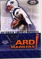 2002 Fleer Box Score Yard Markers Jerseys #17 Antowain Smith Jsy Near ()