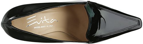 cuero Zapatos negro de Evita para mujer Shoes negro vestir Pumps geschlossen de 00WfqtHw