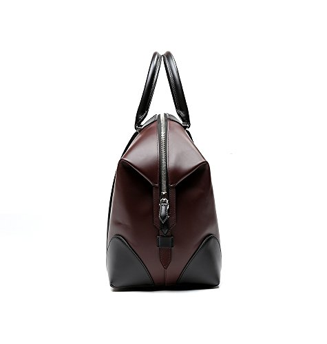 Givenchy Women's Color Blocked Real Leather Tote Handbag One Size Black and Wine by Givenchy (Image #3)