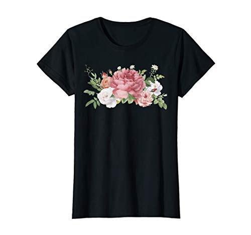 Flower Bouquet T-shirt - Bouquet of Peonies. T-shirt with flowers