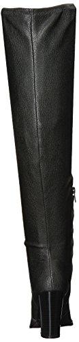 Calvin Klein Damen Catia Overknee Stiefel Schwarz Stretch Pebbled