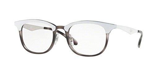 Ray-Ban RX7112 Eyeglasses Grey Havana Top Mat White - Ray Ban Frames White Eyeglass