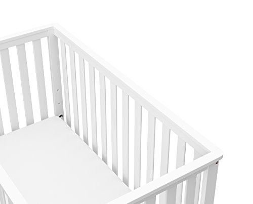 317oNql6yxL - Storkcraft Rosland 3-in-1 Convertible Crib - White