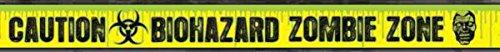 [1 X Biohazard Zombie Warning Tape] (Biohazard Costumes)