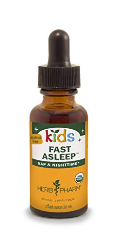 Herb Pharm Kids Certified-Organic Alcohol-Free Fast Asleep Liquid Herbal Formula, 1 Ounce