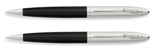 Franklin Covey Lexington, Ballpoint Pen and 0.9mm Pencil Set, Midnight Black Lacquer and Polished Chrome Appointments, by Cross (FC0011IM-1)