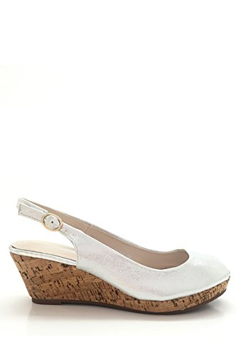 CHIC NANA - Zapatos de Punta Descubierta Mujer plata