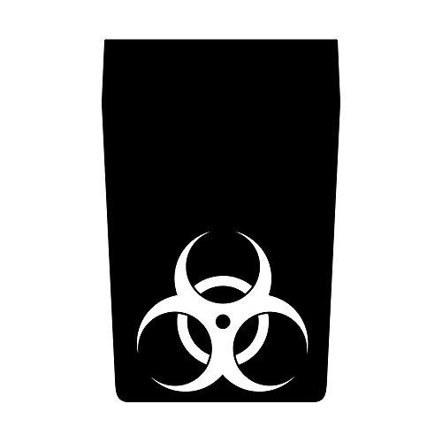 Auto Vynamics - JEP-101-BIOHAZARD-PLN-MBLA - Matte Black Vinyl Hood Decal Kit - Biohazard Design - Jeep Wrangler TJ / LJ Unlimited & Wrangler JK / JKU Unlimited - Center Only - (1) Piece Complete Kit