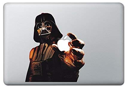 Darth Wader Decal Star Wars Sticker Color Holding Apple Lightsaber with Trackpad MacBook Decal Vinyl Sticker Apple Mac Air Pro Retina Laptop Sticker