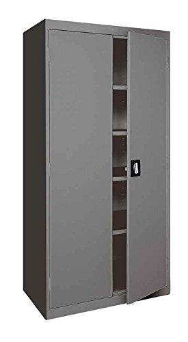 (Sandusky Lee EA4R462478-02 Welded Steel Elite Storage Cabinet with Adjustable Shelves, 24