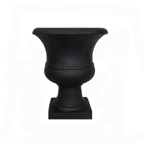 Tusco Products Outdoor Urn, 17-Inch, Black by Tusco Products