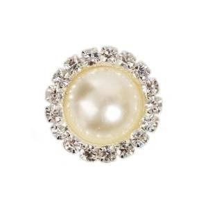 LOKMAN Beige Crystal Metal Rhinestone Pearl Craft Beads Buckles Perfect For DIY Sewing Fasteners Accessories, Jewelry Making, Sewing, Craft, Wedding Dress and Other Clothes Decorations