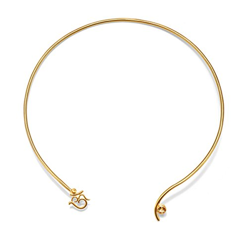 Satya Jewelry Citrine Gold Plate Om Open Choker Necklace by Satya Jewelry