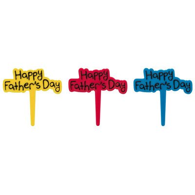 Happy Fathers Day Cupcake Picks