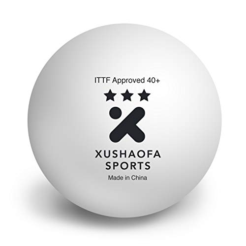 - Xushaofa 40+ Seamless Poly Table Tennis Balls - 3 Star (6 Balls)