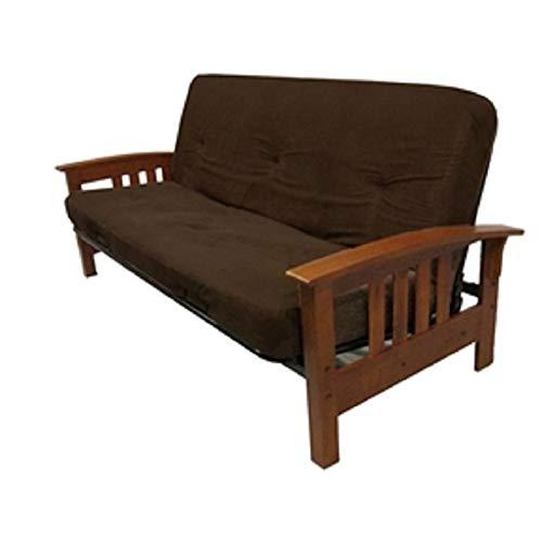 Chooseandbuy Full Size 6 Inch Thick Futon Mattress With Chocolate Microfiber Futon Cover New Sturdy Classic Elegant Furniture