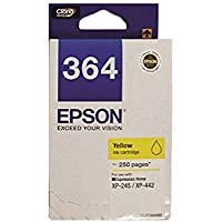[Original] Epson T364 Black Cyan Magenta Yellow Ink Cartridge for Expression Home Inkjet All-in-One Printer XP245…