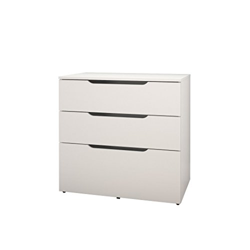 Arobas 600303 3-Drawer Filing Cabinet from Nexera, White by Nexera