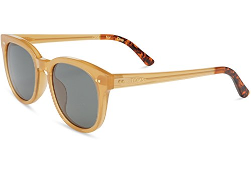 TOMS 10007235 Dodoma 201 Sand Crystal Gold Frame Green Grey Lens Cat-Eye Sunglasses