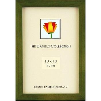 The Original DANIELS W41 Square Corner GALLERY WOODS Green-stained hardwood by Dennis Daniels® - (Hardwood Fawn)