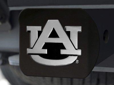 """FANMATS 21026 Team Color 3.4""""x4"""" Auburn Black Hitch Cover"""