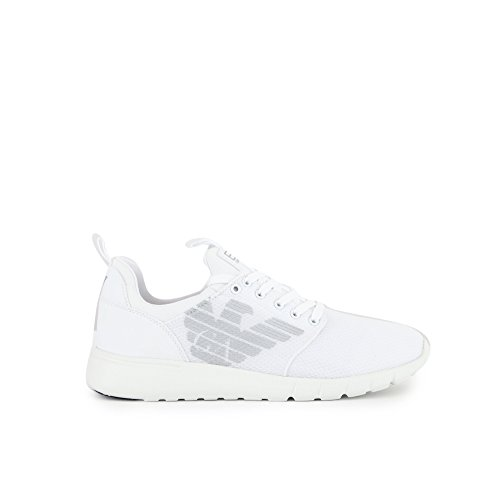 White Nero EA Simple Uomo 7 Racer Sneaker Y1Yn7xr
